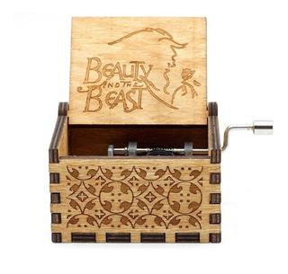 Caja Musical La Bella Y La Bestia De Madera Envío Gratis