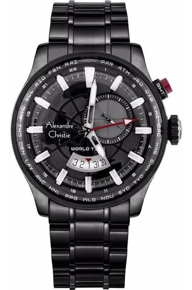 Reloj Alexandre Christie Sport Worldtime 6443mfbipba Origina