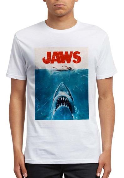 Camiseta Tiburón Jaws Movie 1975 Película Mar Terror Tshirt