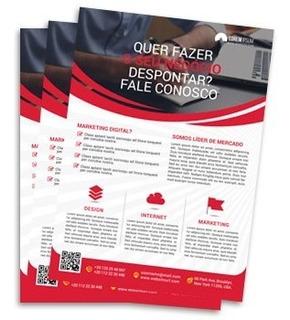 5000 Panfletos Arte Inclusa Frete Grátis 4x0 10x14