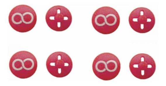 Kit Botão Porta Número Rosa