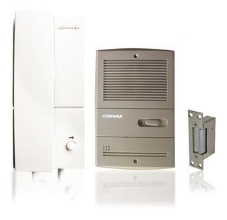 Kit Portero Electrico Embutir Commax Dp201 La + Cerradura