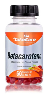 Betacaroteno Melanina Bronze 250mg 60 Caps - Take Care