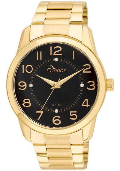 Relógio Condor Feminino Analógico Dourado Original + Nf