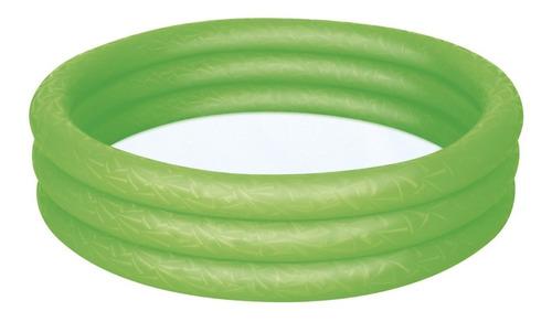 Imagen 1 de 2 de Pileta inflable redonda Bestway 51025 de 122cm x 25cm 140L color verde