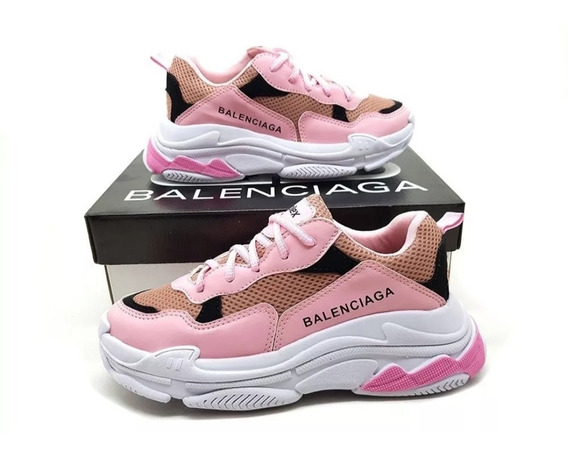 Tenis Balenciaga Triples Rosa Feminino
