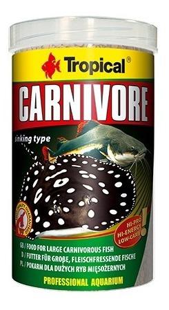 Ração Tropical Carnivore 600g - 1000ml
