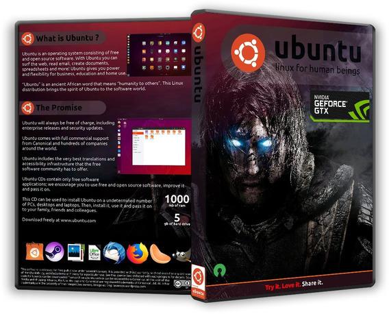Linux Ubuntu Gamer-instalação- 2 Discos Pacote 32/64bits