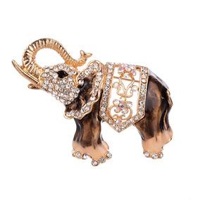 Elefante Broche Ramillete Diamante Imitación De Moda Vestido zMSVUp