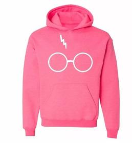 Blusa Moletom Harry Potter Óculos Cicatriz Unissex Canguru