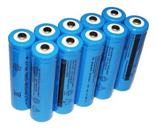 10 Baterias 18650 4800 Mah 3.7 V Para Lanterna Q5 Tática Led