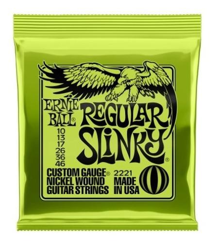 Imagen 1 de 8 de Encordado Guitarra Electrica Regular Slinky Ernie Ball