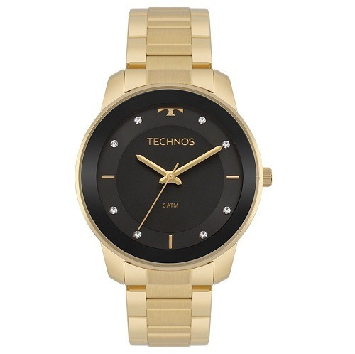 Relógio Technos Feminino Dourado 2036mkf/5p Original