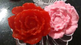 Flor Rosa Peônia - Sabonete Artesanal - 60 Lembrancinhas