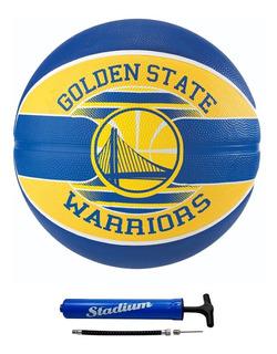 Bola De Basquete Spalding Nba Golden State Warriors + Bomba