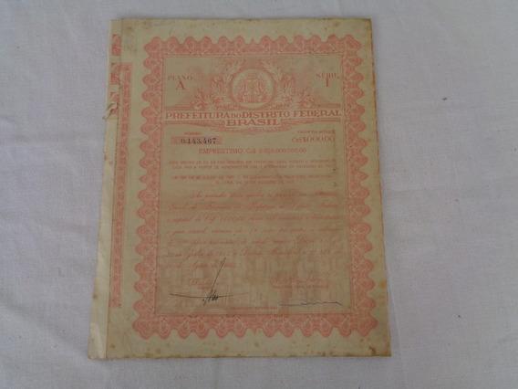 Apólice Prefeitura Do Distrito Federal Do Brasil 1955*
