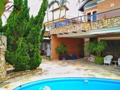 Belíssimo Sobrado, 6 Suítes, 90mts Praia Enseada, Permuta - V882