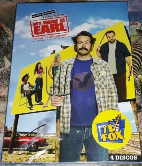 Box Original: My Name Is Earl 4ª Temporada Lacrado - 4 Dvd