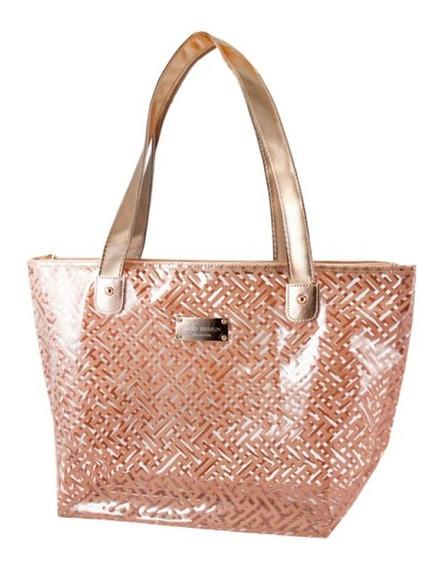 Bolsa Shopper Transparente Jacki Design Dourado