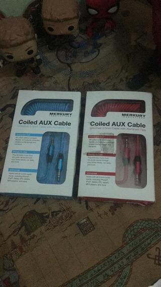 Cable Auxiliar 3.5mm Merkury Azul | Tienda F. | Bumsgames