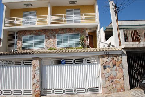 Imagem 1 de 12 de Lindo Sobrado À Venda - 3 Dormitórios - 5 Vagas - Independência - São Bernardo Do Campo - Sp - 20681