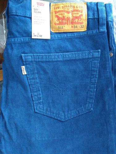 Pantalon Pana Levis 511 Slim Fit Squad Blue Mercado Libre