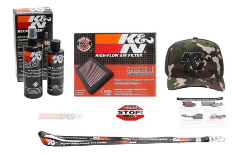 Filtro Ar K&n Gol Saveiro Fox G5 1.6 33-2830 + Kit Limpeza