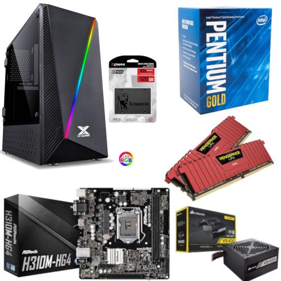 Pc Pyxis Pentium G5400 H310m Hg4 Vg 16gb Vs400 Ssd 120gb