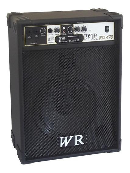 Caixa De Som Amplificada Teclado/guitarra/violão 60w Rms 10