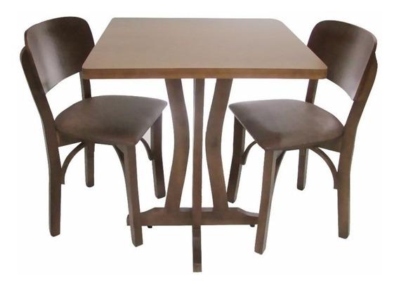 Mesa Lorena Com 4 Cadeiras Anatômicas - Madeira - Casa - Bar