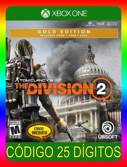 Tom Clancys The Division 2 Gold Xbox One - 25 Dígitos (envio Já)