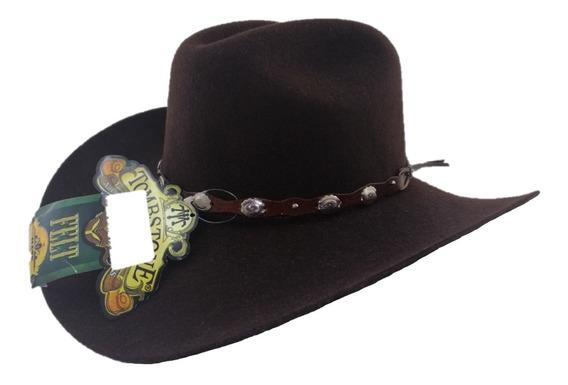 Sombrero Texana 20 X Tombstone Color Chocolate De Fina Lana