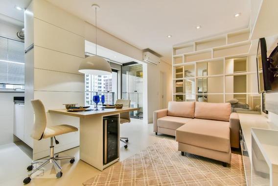 Apartamento No 5º Andar Mobiliado Com 1 Dormitório E 1 Garagem - Id: 892974178 - 274178