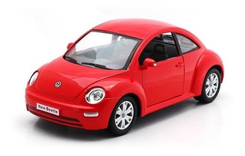 Imagen 1 de 9 de Rojo Volkswagen New Beetle Escala 1:24 Colección