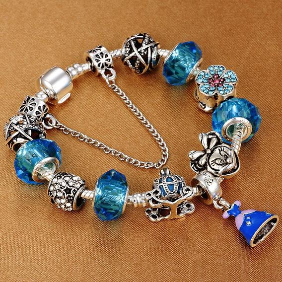 Pulseira Bracelete Feminina Pandora Com Berloques