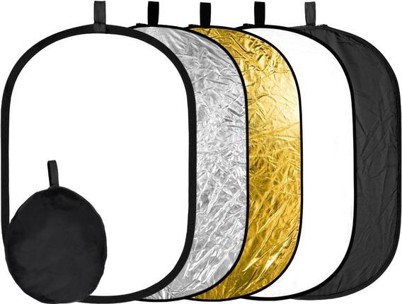 Rebatedor Retangular Oval Fotográfico 5 Em 1 90cmx120cm
