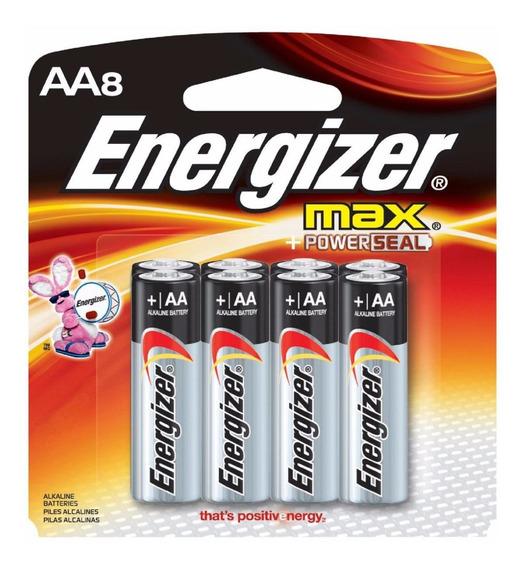 Pilha Alcalina Aa Pequena Energizer Max - Leve 8 Pague 6