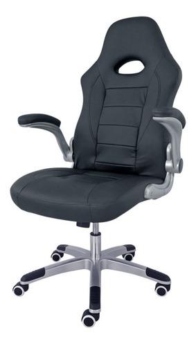 Imagen 1 de 4 de Silla de escritorio Desillas Pro Sonic gamer ergonómica  negra con tapizado de cuero sintético