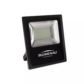 Refletor Led Slim 100w 6000k 7800lm Bivolt Blumenau Iluminaç