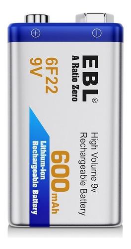 Bateria Pila 9v Recargable   En Blisters  Reemplaza A La Gp