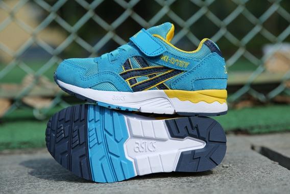 Tênis Asics Shoes Infantil Importado Meninos Blue