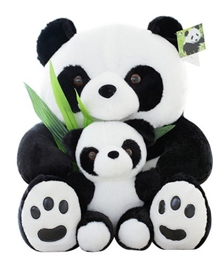 Pelúcia Panda 25 Cm Mamãe E Filho Panda