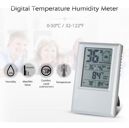 Ben-gi Term/ómetro Celsius Fahrenheit Coche LCD term/ómetro LCD term/ómetro Temperaturas Medidor Digital de Ventosa para el Cuidado de la Salud de Interior de Coches al Aire Libre