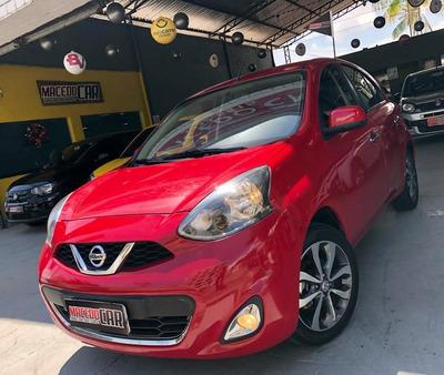 Nissan March 1.6 Sl Automático 2017 Vermelho