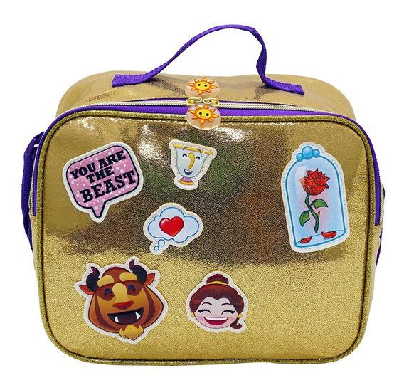 Lonchera Disney Emoji La Bella Y La Bestia Original