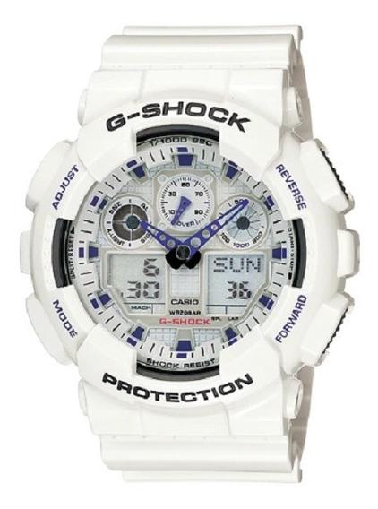 Relógio Casio G-shock Ga-100a-7adr Semi Novo 100% Original