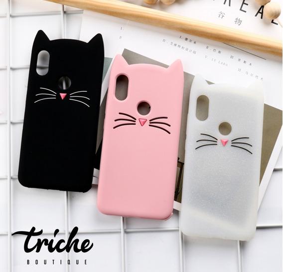Funda Botarga Diseño Gato Bigotes Color Xiaomi Redmi Note 7