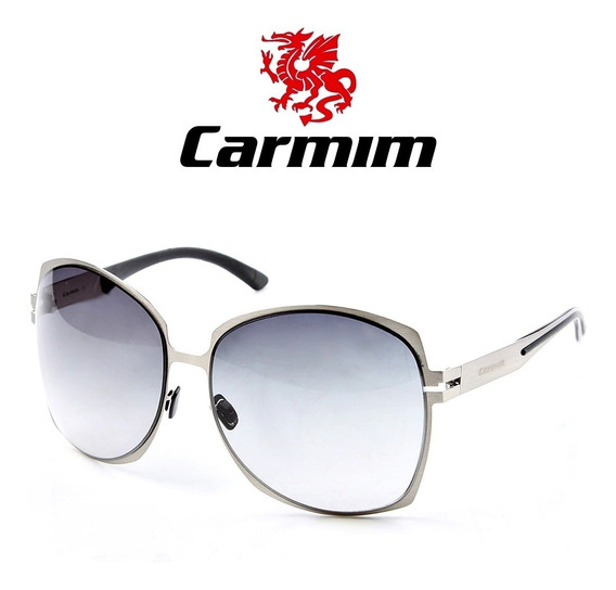 Oculos De Sol Feminino Original Carmim Vintage Prata Grande
