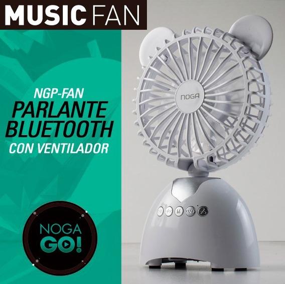 Ventilador Y Parlante Bluetooth Noga Ngp Fan