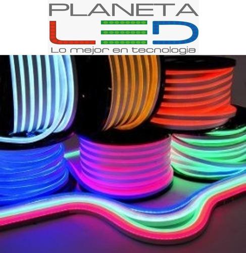 Cinta Manguera Neon Led Unicolor Y Rgb Directa 110v Continua